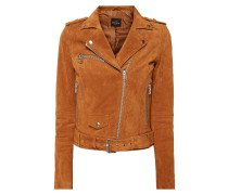 Jacke aus Leder im Biker-Look