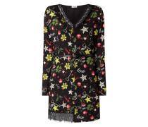 Kleid aus Krepp mit Mustermix