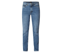 Relaxed Straight Fit Jeans aus Bio-Baumwollmischung