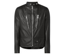 Lederjacke mit Reißverschlusstaschen Modell 'Tolidu'