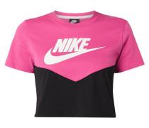 Slim Fit Crop-Shirt mit Logo-Print