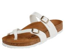Sandalen in Lack-Optik