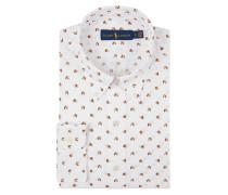 Slim Fit Freizeithemd mit Allover-Muster
