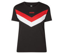 T-Shirt mit Zickzack-Muster