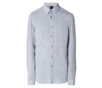Modern Fit Leinenhemd mit New Kent Kragen