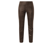 Slim Fit Stretchhose in Snake-Optik