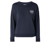 Sweatshirt mit Herz-Stickereien