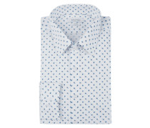 Slim Fit Hemd mit Stretch-Anteil