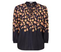 Blusenshirt mit floralem Muster und Biesen