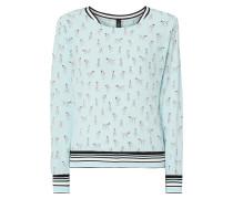 Blusenshirt aus Seide mit Allover-Muster