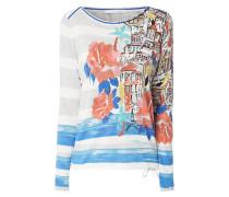 Pullover mit Streifenmuster und Prints