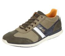 Sneaker aus Leder mit Kontrastbesatz
