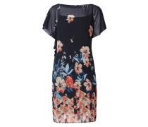Cold Shoulder Kleid aus Chiffon mit Flügelärmeln