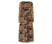 Kleid aus Mesh mit Animal-Print