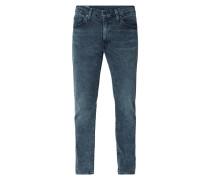 Acid Washed Slim Tapered Fit Jeans