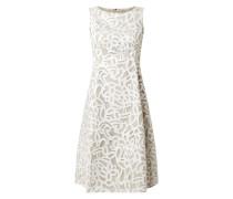 Kleid aus Mesh mit ornamentalem Muster