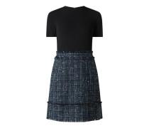 Kleid im 2-in-1-Look mit Effektgarn