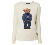 Pullover mit eingestricktem Polo Bear