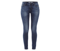Skinny Fit 5-Pocket-Jeans im Stone Washed-Look