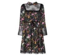 Kleid mit floralem Muster und Spitze