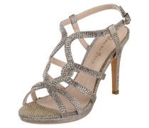 High Heels mit Glitter-Effekt und Ziersteinen