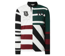 Rugby-Shirt mit variierendem Streifenmuster
