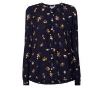 Bluse aus Viskoskrepp mit floralem Muster