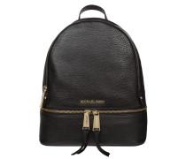 Rucksack aus Leder mit Bodenfach