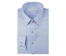 Slim Fit Business-Hemd mit Kentkragen