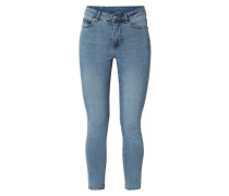 Stone Washed Tight Fit Jeans