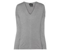 Pullover mit Zierstreifen aus Effektgarn
