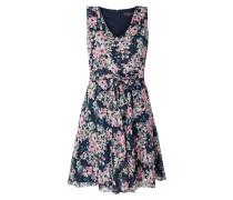 Kleid aus Chiffon mit foralem Muster