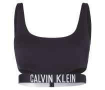 Bikini-Oberteil mit Logo-Bund