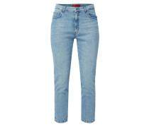Bleached Slim Boyfriend Fit Jeans