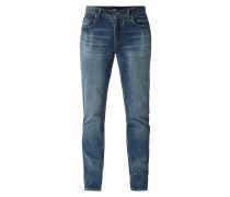 Tapered Fit Jeans im Used Look