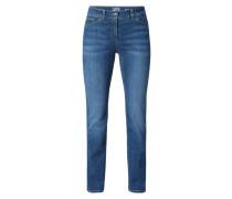 Stone Washed 5-Pocket-Jeans mit Stretch-Anteil