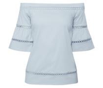 Off-Shoulder-Blusenshirt mit Zierborten