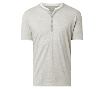 Serafino-Shirt aus Organic Cotton und Viskose