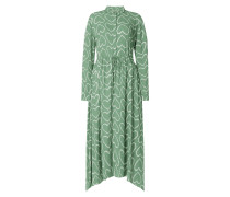 Kleid mit Allover-Muster Modell 'Elva'