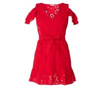Cold Shoulder Kleid mit Lochstickereien