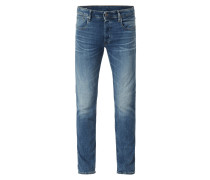 Stone Washed Slim Fit Jeans aus BCI Cotton