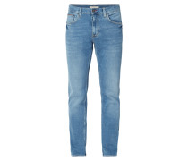 Stone Washed Modern Fit 5-Pocket-Jeans