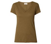 T-Shirt aus Slub Jersey mit offenen Abschlüssen