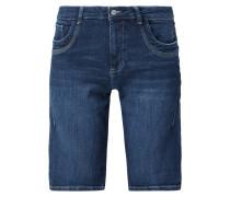 Regular Fit Jeansbermudas mit Kontrastnähten