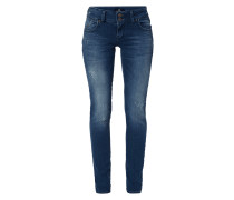 Low Rise Super Slim Fit Jeans im Used Look