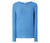 Pullover aus Baumwolle mit Rippenstruktur