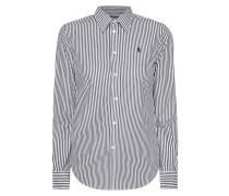 Slim Fit Hemdbluse mit Streifenmuster