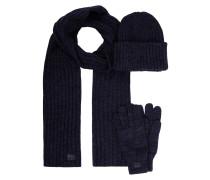 Beanie, Schal und Handschuhe im Set