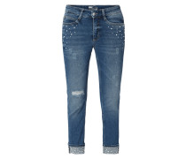 Straight Fit Jeans im Used Look