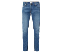 Stone Washed Low Rise Slim Fit Jeans